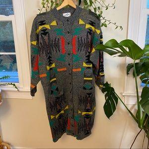 Vintage 1987 Dressy Tessy Sweater Dress/Cardigan M